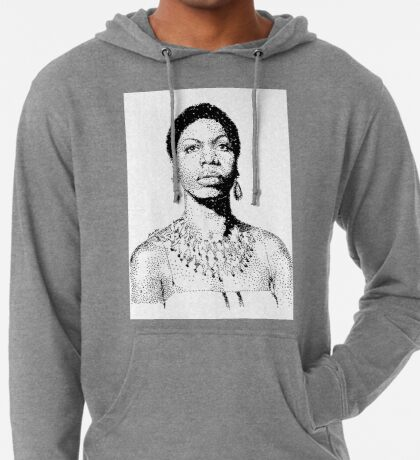 Nina Simone Portrait Famous Jazz Musician  Lightweight Hoodie