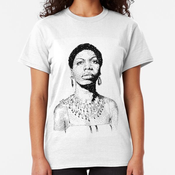 Nina Simone Portrait Famous Jazz Musician  Classic T-Shirt