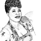 Ella Fitzgerald Famous Jazz Musician by tqueen
