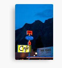 Twin Peaks Diner Canvas Print