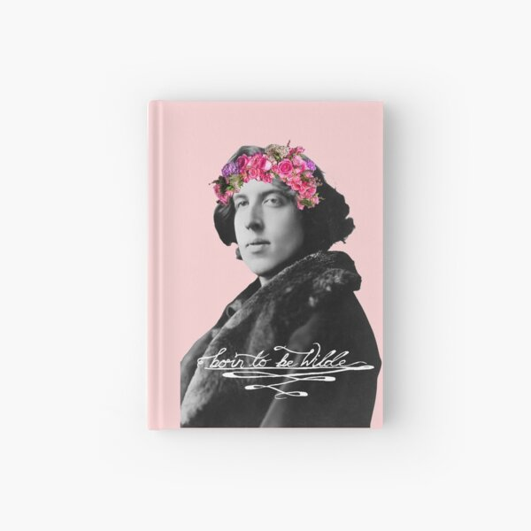 Born to be Wilde with flower crown Hardcover Journal