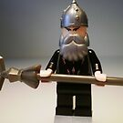 Mongolian Chinese Warrior Chief Custom Minifig by Customize My Minifig