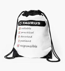 Taurus Traits Astrology Horoscope Birth Sign Drawstring Bag