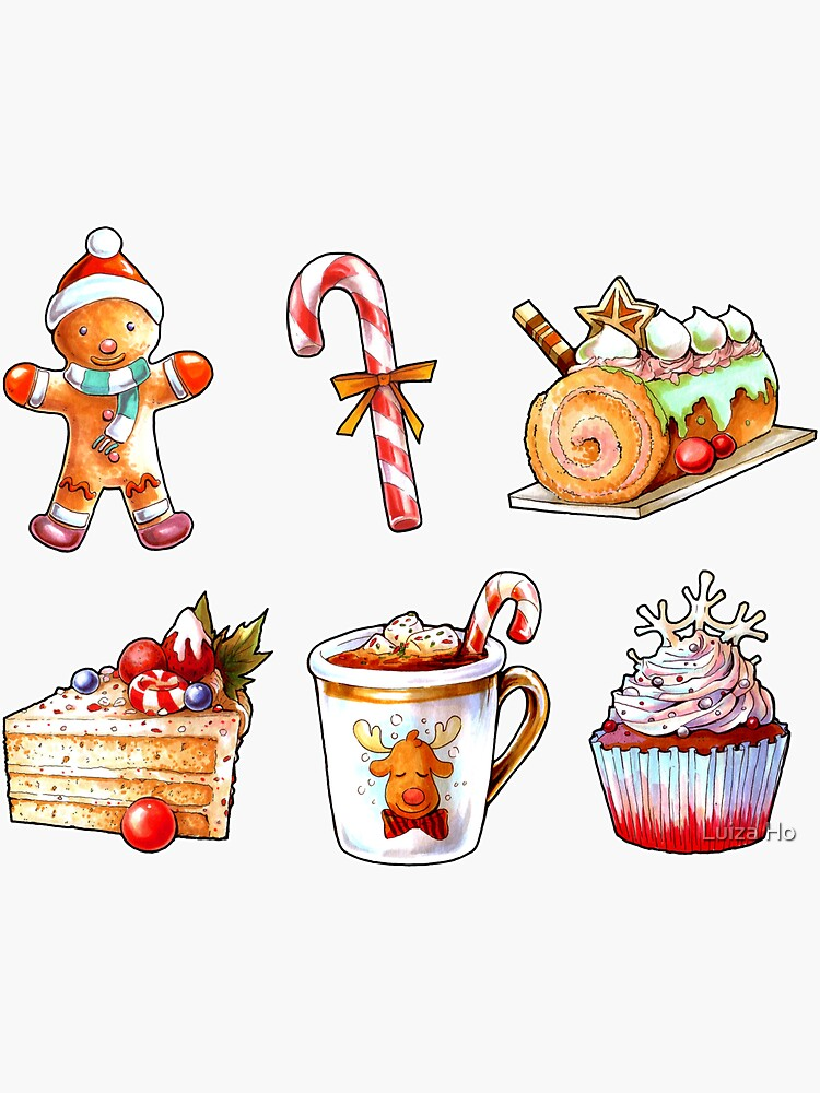 Christmas Delights – Mini Sticker Set #1 by teapotsandhats