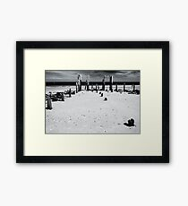 Port Willunga 1 (bw) Framed Print