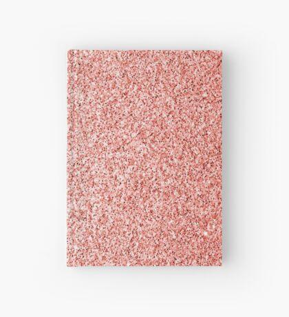 Living coral light glitter sparkles Hardcover Journal