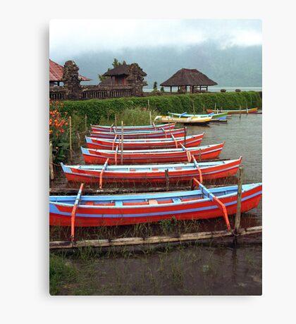 Bali Fishing Boats Canvas Print