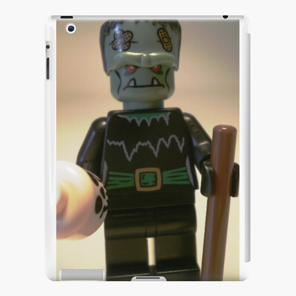 Frankensteins Monster Custom Minifigure with Skull iPad-Hüllen & Klebefolien