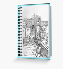 NYC-Sitting with a Cappuccino at a Tribeca cafe Greeting Card