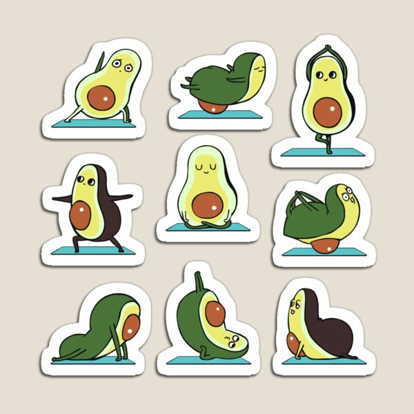 Avocado Yoga Magnet