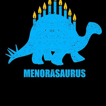 Menorasaurus Menorah Hanukkah Dinosaur Jew Channukah by kieranight