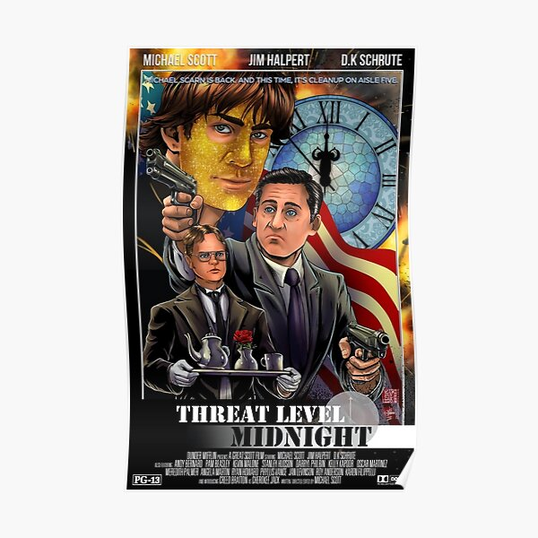 Threat Level Midnight - The Office Poster