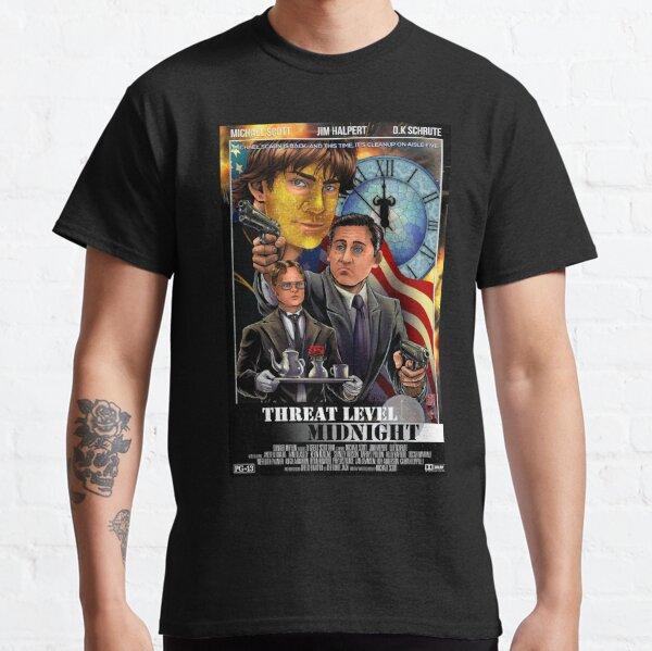 Nivel de amenaza Medianoche - La oficina Camiseta clásica