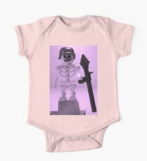 Skeleton Zombie Soldier with Custom Minifigure Helmet and baooka One Piece - Short Sleeve