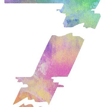 The Number 7 Seven Broken Rock Typography Tshirt by divotomezove