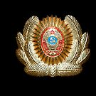 Soviet Red Army Officer Uniform Cap Badge by yurix