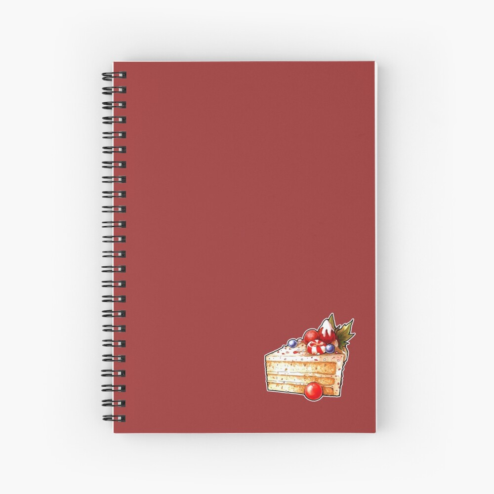 Christmas Cake Spiral Notebook