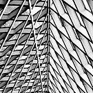 Seattle Public Library - B&W by Steve Cowell