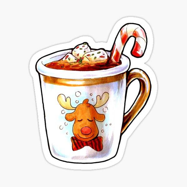 Rudolph's Hot Cocoa Sticker