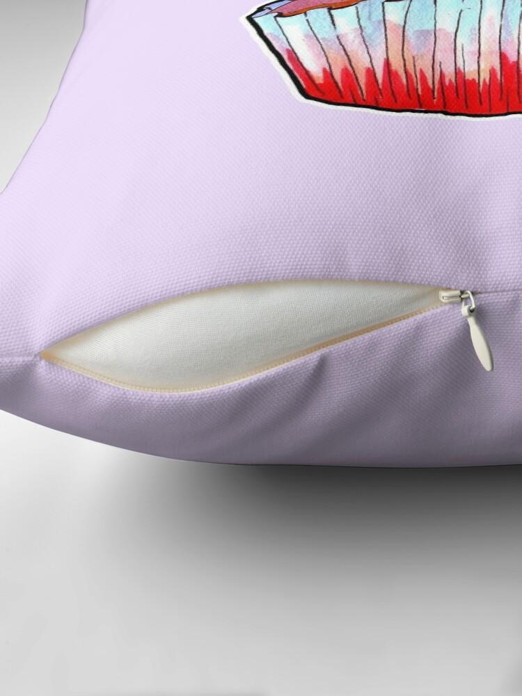 Alternate view of Snowfairy's Cake Throw Pillow