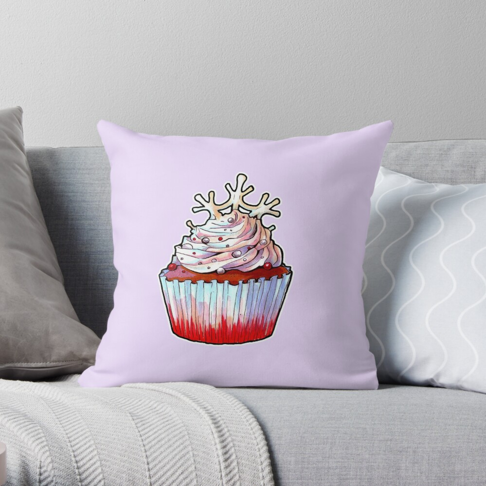 Snowfairy's Cake Throw Pillow