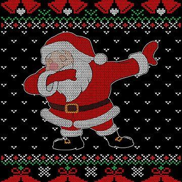 Dabbing Santa T-Shirt - Funny Dab Santa Claus Gift Ugly Christmas Sweater by MrTStyle