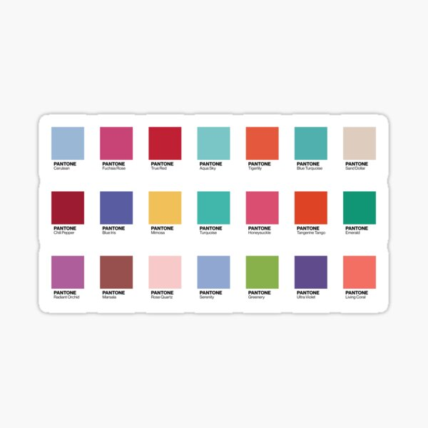 Pantone - Colors of the Year (2000-2019) - Set of 21 stickers Sticker