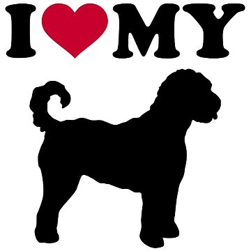 I love my Goldendoodle by Designzz