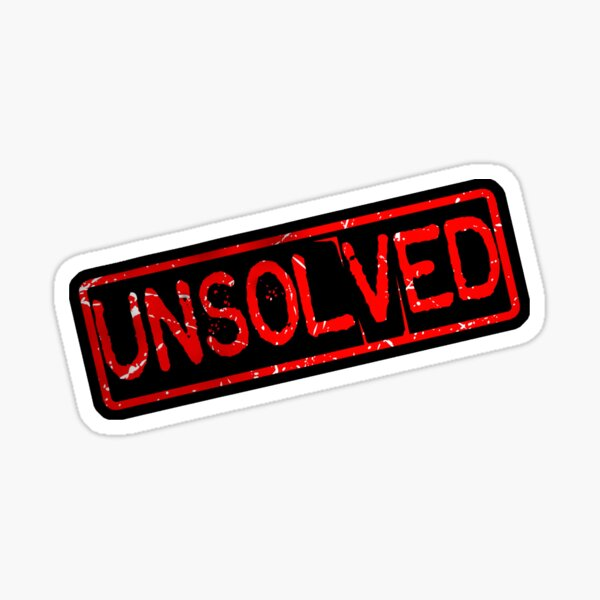 Unsolved Stamp Sticker