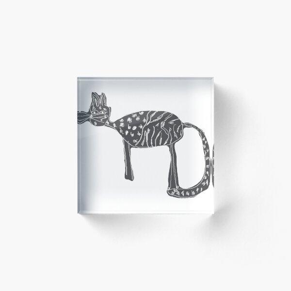 Cats love Acrylic Block