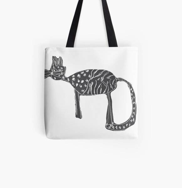 Cats love All Over Print Tote Bag