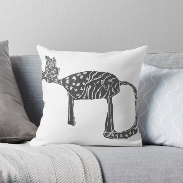 Cats love Throw Pillow