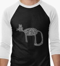 Katzen Liebe Baseballshirt mit 3/4-Arm
