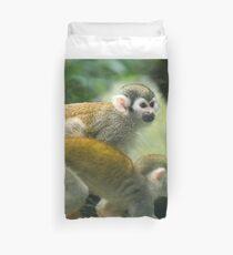 Common Squirrel Monkeys (Saimiri sciureus). Duvet Cover