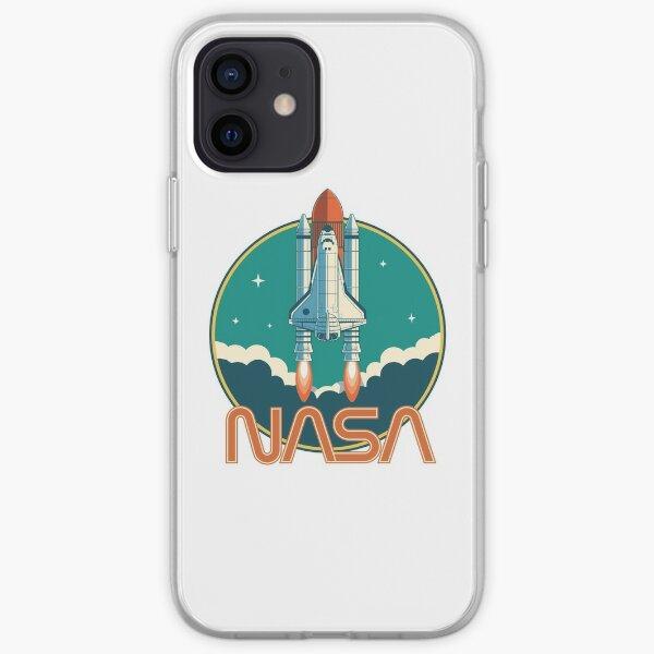 Logo de la navette spatiale vintage de la NASA Coque souple iPhone