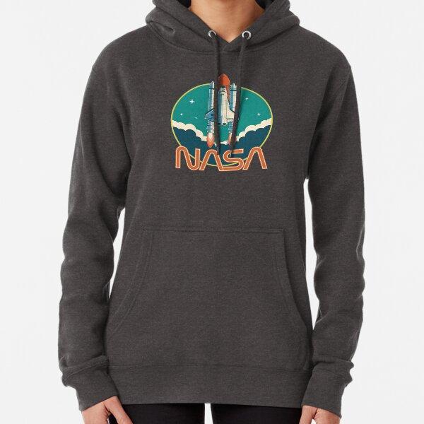 Logotipo del transbordador espacial vintage de la NASA Sudadera con capucha