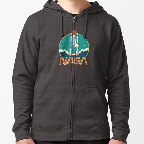 NASA Vintage Space Shuttle Logo Zipped Hoodie