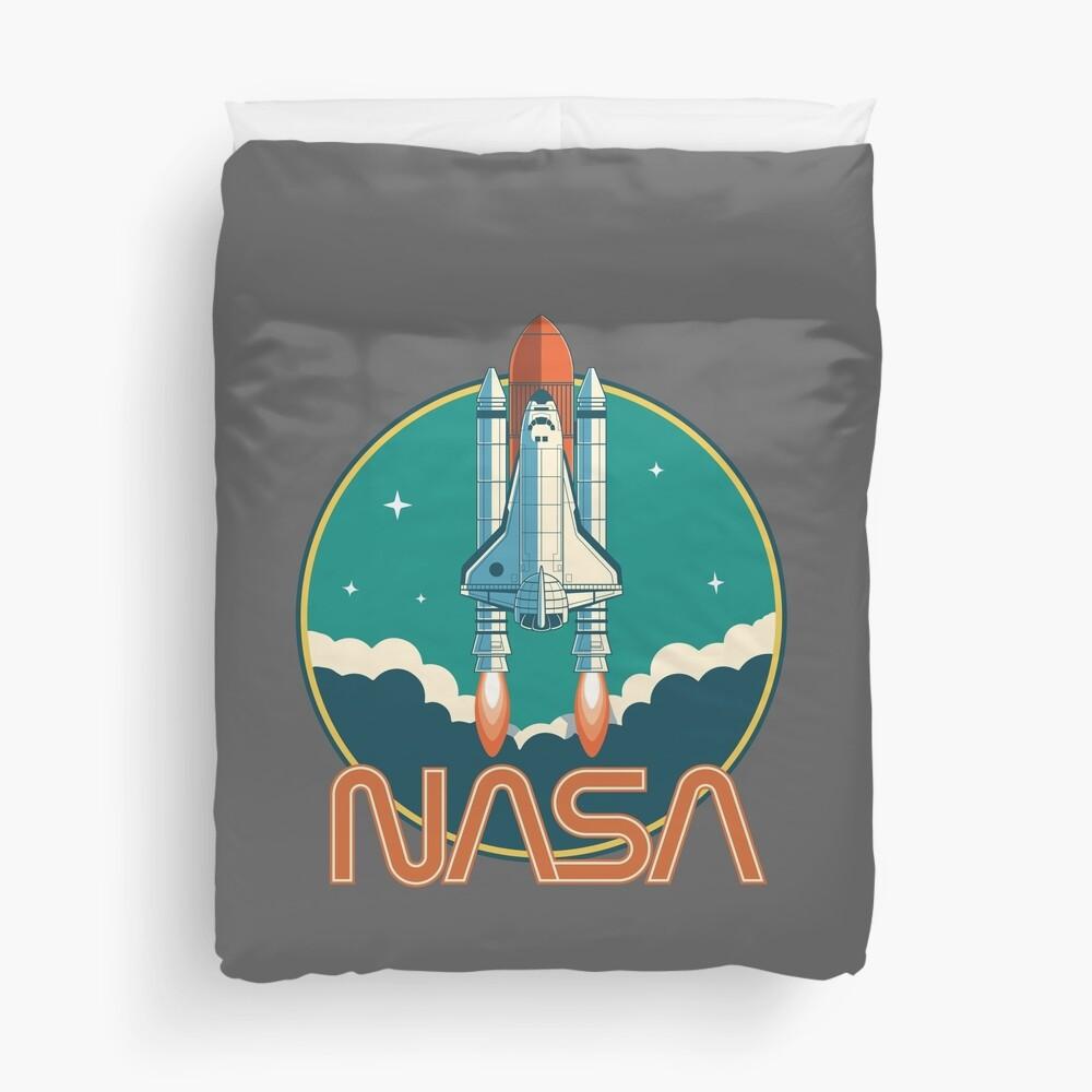 NASA Vintage Space Shuttle Logo Duvet Cover