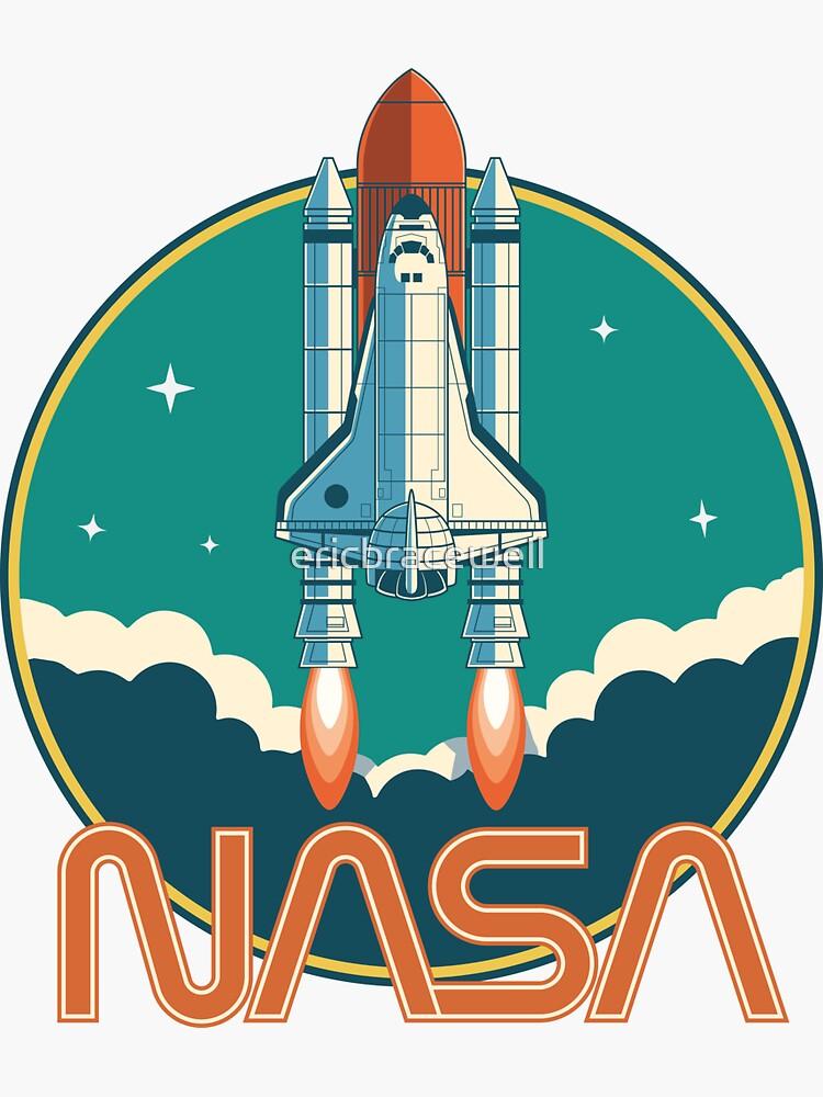 NASA Vintage Space Shuttle Logo von ericbracewell