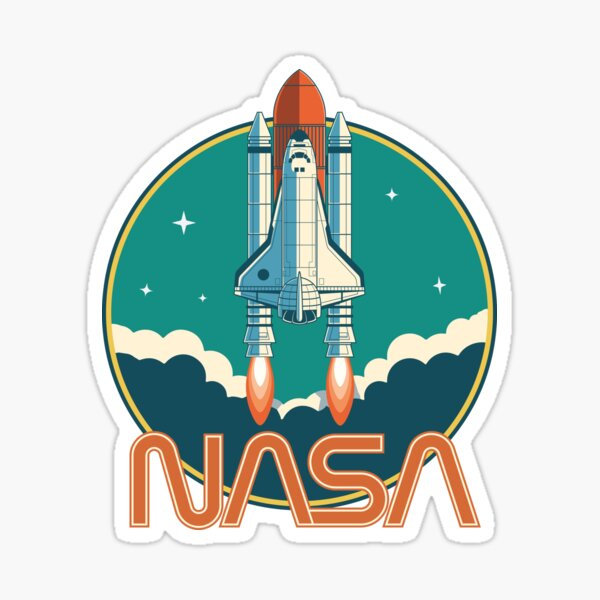 NASA Vintage Space Shuttle Logo Sticker