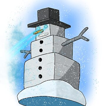Snowman robot  by JohnyZero