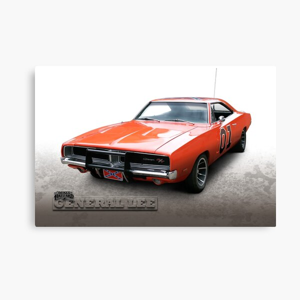 Dukes of Hazzard General Lee - 1969 Dodge Charger Canvas Print