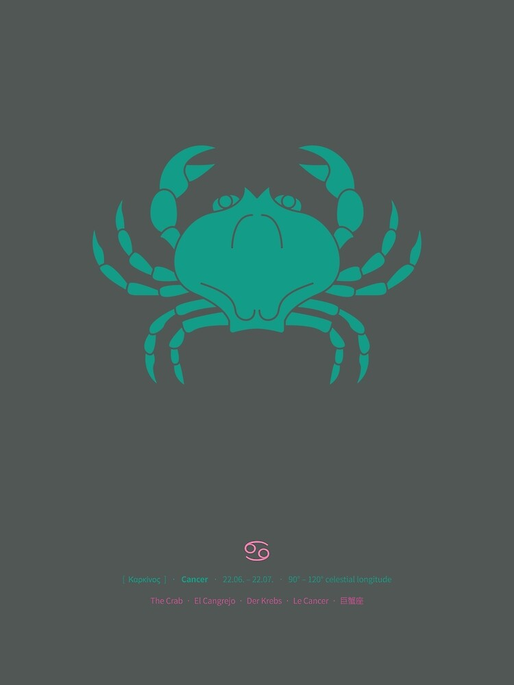 Cancer Zodiac / Crab Star Sign Poster by Thoth-Adan