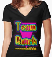 Team Butch Women's Fitted V-Neck T-Shirt
