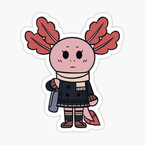 Chibi Axolotl-chan (Winter [School]) Sticker