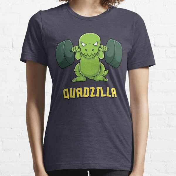 Cute Dinosaur Gym Workout Quadzilla Gift Essential T-Shirt