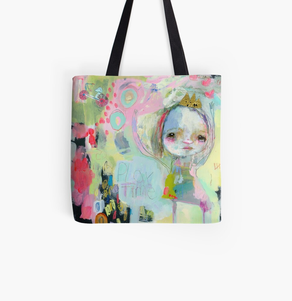 Play Time All Over Print Tote Bag