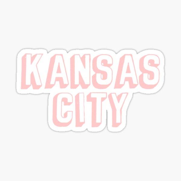 Comic Kansas City Block - Light Pink Sticker