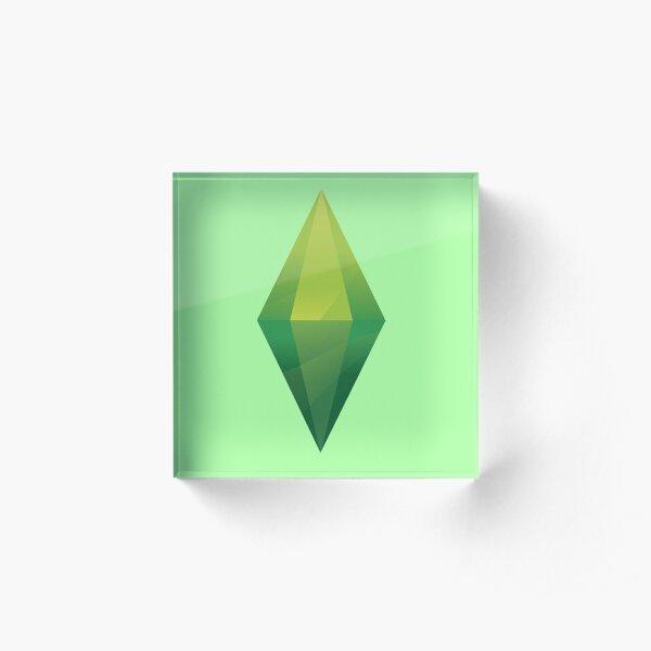 Sims Plumbob Acrylic Block