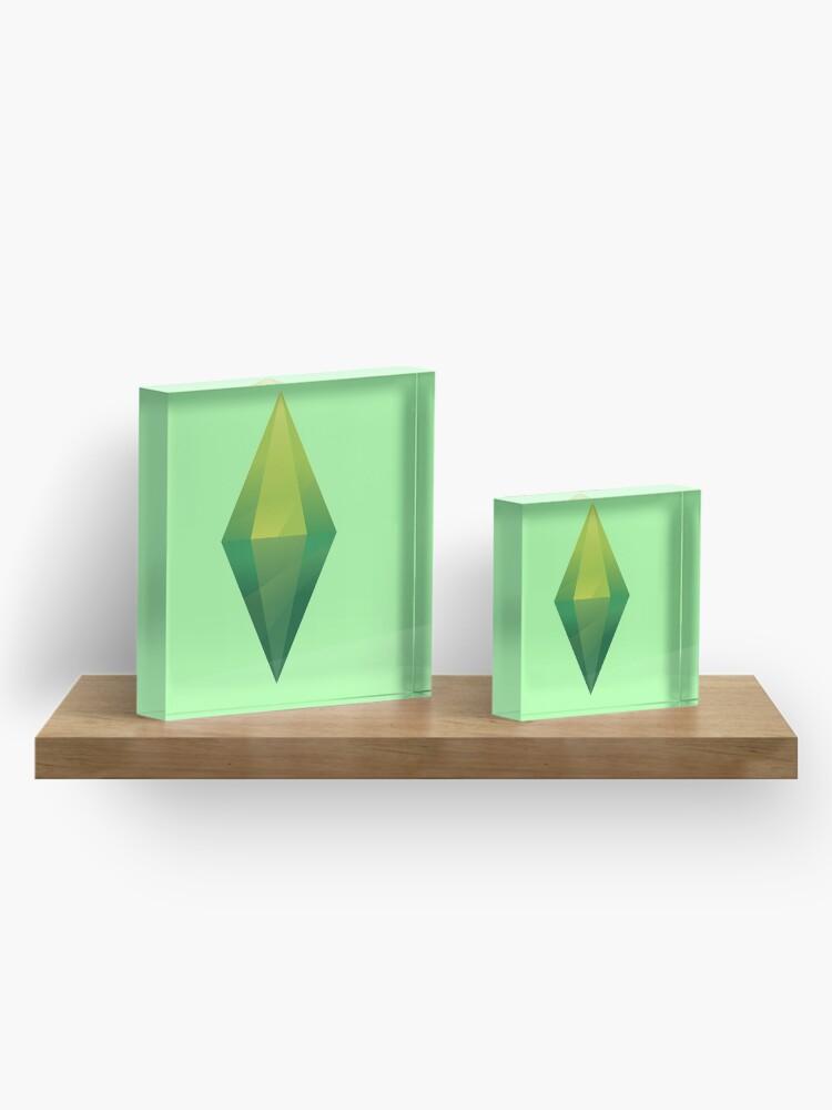 Alternate view of Sims Plumbob Acrylic Block